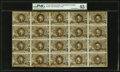 Fr. 1233 5¢ Second Issue Uncut Sheet of Twenty PMG Choice Extremely Fine 45 Net