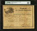 Confederate Notes:Group Lots, Ball 371 Cr. UNL $10,000 1864 Six Per Cent Non Taxable CertificatePMG Very Fine 30.. ...