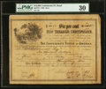 Confederate Notes:Group Lots, Ball 371 Cr. 156 $10,000 1864 Six Per Cent Non Taxable CertificatePMG Very Fine 30.. ...