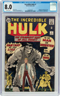 Silver Age (1956-1969):Superhero, The Incredible Hulk #1 (Marvel, 1962) CGC VF 8.0 Off-whitepages....