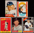 Baseball Cards:Lots, 1953-66 Topps Mickey Mantle Collection (5)....