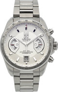Timepieces:Wristwatch, Tag Heuer CAV511B Grand Carrera Steel Chronograph. ...
