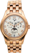 Timepieces:Wristwatch, Patek Philippe Ref. 5036/1J-001 Men's Gold Astronomic Annual Calendar Wristwatch With Power Reserve Indicator. ...