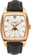 Timepieces:Wristwatch, Patek Philippe Ref. 5135R Gondolo Calendario, Annual Calendar, MoonPhases, 24 Hour Indication. ...