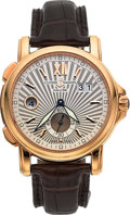Timepieces:Wristwatch, Ulysse Nardin Ref. 246-55 Very Fine Gold Dual Time Wristwatch . ...