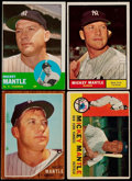 Baseball Cards:Lots, 1960-63 Topps Mickey Mantle Quartet (4)....