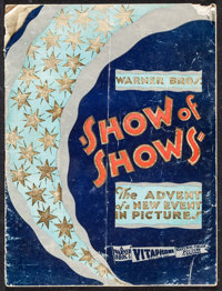 "Show of Shows (Warner Brothers, 1929). Program (24 Pages, 9"" X 12""). Musical"