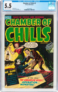 Golden Age (1938-1955):Horror, Chamber of Chills #5 (Harvey, 1952) CGC FN- 5.5 Cream to off-whitepages....