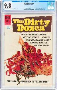 Movie Classics: Dirty Dozen (Dell, 1967) CGC NM/MT 9.8 Off-white to white pages
