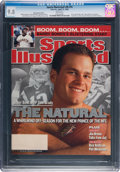 Football Collectibles:Publications, 2002 Tom Brady First Sports Illustrated Magazine CGC 9.8 - None Higher. ...