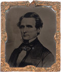 Political:Ferrotypes / Photo Badges (pre-1896), Jefferson Davis: Abbott Tintype....