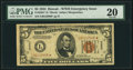 Small Size:World War II Emergency Notes, Fr. 2301* $5 1934 Hawaii Federal Reserve Note. PMG Very Fine 20.. ...