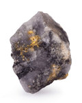 Minerals:Miniature, Gold in Matrix. Timmins, Canada. 1.41 x 1.47 x 1.04 inches (3.57 x 3.74 x 2.65 cm). ...