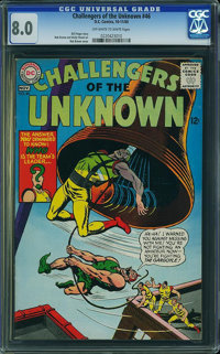 Challengers of the Unknown #46 (DC, 1965) CGC VF 8.0 Off-white to white pages