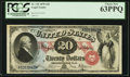 Large Size:Legal Tender Notes, Fr. 129 $20 1878 Legal Tender PCGS Choice New 63PPQ.. ...