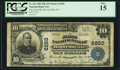 National Bank Notes:Pennsylvania, Hooversville, PA - $10 1902 Plain Back Fr. 634 The First NB Ch. #6250. ...