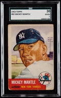 Baseball Cards:Singles (1950-1959), 1953 Topps Mickey Mantle #82 SGC 30 Good 2....