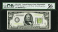 Small Size:Federal Reserve Notes, Fr. 2102-I $50 1934 Light Green Seal Federal Reserve Note. PMG Choice About Unc 58.. ...