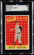 Baseball Cards:Singles (1950-1959), 1958 Topps Mickey Mantle All Star #487 SGC 60 EX 5....