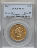 Liberty Eagles: , 1847 $10 XF45 PCGS. PCGS Population: (189/276). NGC Census: (217/916). Mintage 862,258. ...