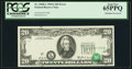 Error Notes:Shifted Third Printing, Fr. 2068-L $20 1969A Federal Reserve Note. PCGS Gem New 65PPQ.. ...