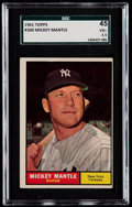 Baseball Cards:Singles (1960-1969), 1961 Topps Mickey Mantle #300 SGC 45 VG+ 3.5....