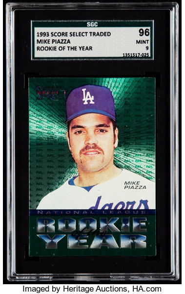 1993 Score Select Mike Piazza Nl Rookie Of The Year Sgc 96 Mint