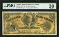 Canadian Currency, Toronto, ON - Imperial Bank of Canada $5 Jan. 1, 1910 Ch #375-12-06.. ...