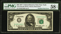 Fr. 2119-B $50 1977 Federal Reserve Note. PMG Choice About Unc 58 EPQ