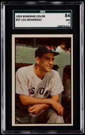 Baseball Cards:Singles (1950-1959), 1953 Bowman Color Lou Boudreau #57 SGC 84 NM 7....