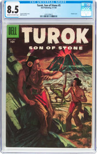 Turok, Son of Stone #5 (Dell, 1956) CGC VF+ 8.5 Cream to off-white pages