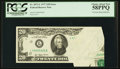 Error Notes:Foldovers, Fr. 2072-L $20 1977 Federal Reserve Note. PCGS Choice About New58PPQ.. ...
