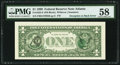 Error Notes:Third Printing on Reverse, Fr. 1925-F $1 1999 Federal Reserve Note. PMG Choice About Unc 58.. ...