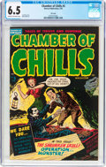 Golden Age (1938-1955):Horror, Chamber of Chills #5 File Copy (Harvey, 1952) CGC FN+ 6.5 Cream tooff-white pages....