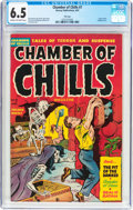 Golden Age (1938-1955):Horror, Chamber of Chills #7 File Copy (Harvey, 1952) CGC FN+ 6.5 Cream tooff-white pages....