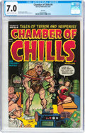 Golden Age (1938-1955):Horror, Chamber of Chills #9 File Copy (Harvey, 1952) CGC FN/VF 7.0 Creamto off-white pages....