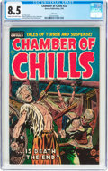 Golden Age (1938-1955):Horror, Chamber of Chills #22 File Copy (Harvey, 1954) CGC VF+ 8.5 Cream tooff-white pages....