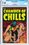 Golden Age (1938-1955):Horror, Chamber of Chills #11 File Copy (Harvey, 1952) CGC FN/VF 7.0Off-white to white pages....