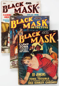 Black Mask Group of 10 (Fictioneers Inc., 1939-50) Condition: Average VG.... (Total: 10 Items)