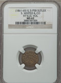 Civil War Tokens, S. Whited & Co., 97th Illinois Volunteers, MS62 NGC.S&I-IL-97-5B, R.6. Brass....