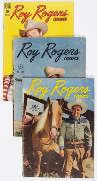 Roy Rogers Comics Group of 74 (Dell, 1940s-50s) Condition: Average GD.... (Total: 74 Comic Books)