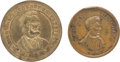 Political:Tokens & Medals, Abraham Lincoln: Two Election Medals.... (Total: 2 Items)