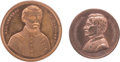 Political:Tokens & Medals, George B. McClellan: Two Copper Medals.... (Total: 2 Items)