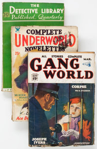 Assorted Detective Pulps Group of 3 (Various, 1932-34).... (Total: 3 Items)