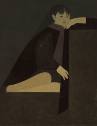 Will Barnet (American, 1911-2012) Little Ona, 1962 Oil on canvas 35-1/2 x 27-1/2 inches (90.2 x 6