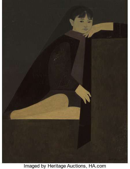 Will Barnet (American, 1911-2012)Little Ona, 1962Oil on canvas35-1/2 x 27-1/2 inches (90.2 x 69.9 cm)Signed lowe...