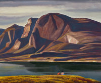 Rockwell Kent (American, 1882-1971) Greenland (Spring), circa 1934-35 Oil on canvas laid on panel