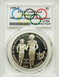 1995-P $1 Paralympics Silver Dollar, 20th Anniversary, Gem Proof PCGS. 1 of 500. PCGS Population: (0/0). NGC Census: (0/...