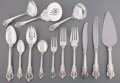 Silver Flatware, American:Wallace , An Eighty Two-Piece Wallace Grand Baroque Pattern PartialFlatware Service, Wallingford, Connecticut, designed 1... (Total:82 Items)