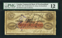 St. John's, NF- Commercial Bank of Newfoundland $20 Jan. 3, 1874 Ch. # 185-18-14